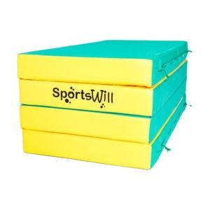 800 Мат SportsWill 200 х 100 х 10 скл зел