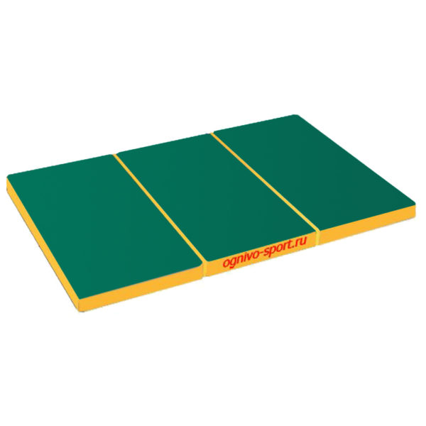800 1 sportivnyj mat ognivo sport skladnoj 150 h 100 h 10 zeleno zheltyj