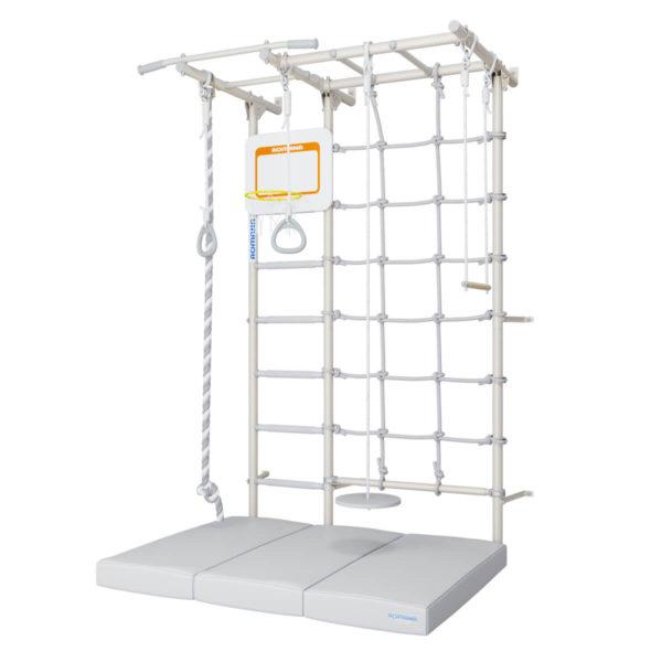 Комплект ROMANA S7(Pastel) Щит баскетбольный Подвес (серый) Мат 1000 1500 100 в 3 сложения (серый)-1