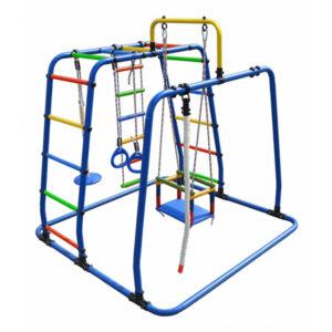 Детский спортивный комплекс Формула здоровья Игрунок Т Плюс синий-радуга