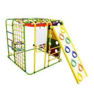 Детский спортивный комплекс Формула здоровья Кубик У Плюс салатовый-радуга