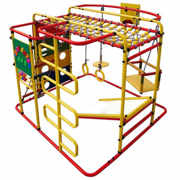 Детский спортивный комплекс Формула здоровья Мурзилка S красный-радуга