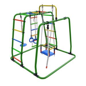 Спортивный комплекс Формула здоровья Игрунок Т Плюс зеленый-радуга